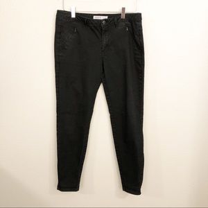Zara basic Z1975 Black Denim Jeans Sz 12